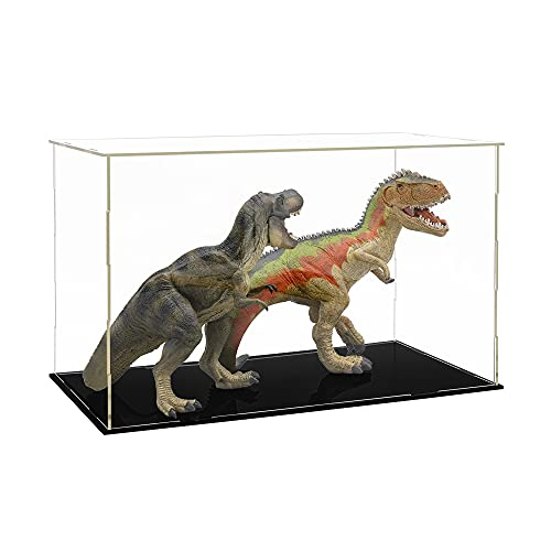Tingacraft Acrílico Vitrina Cristal (31 x 17 x 19 cm) para Figura 15cm 1/12, Caja Metacrilato Expositor para Colecciones
