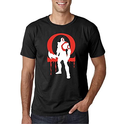 Omega Dios de la Guerra - Camiseta Manga Corta (Negro, M)
