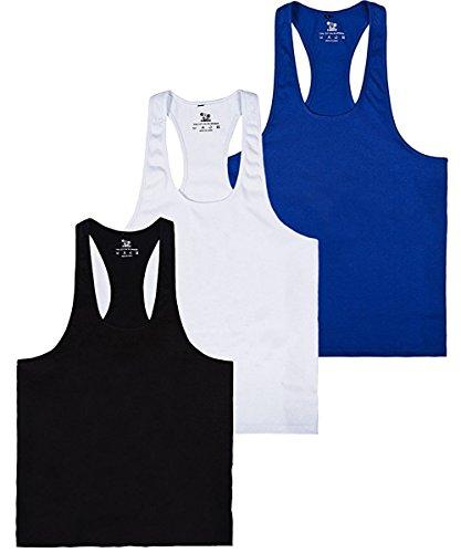 donhobo Tanktop Fitness Herren Sport Stringer Muskelshirt Gym Tank Top Bodybuilding Muscle Shirt Achselshirt(3pack,M)