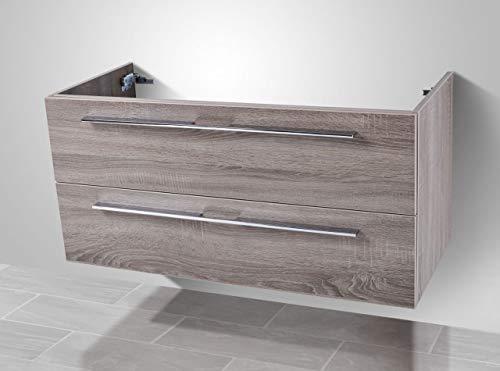 Intarbad ~ Waschtisch Unterschrank zu Villeroy & Boch Subway 2.0 Doppelwaschtisch 130cm Grau Matt Lack IB1086