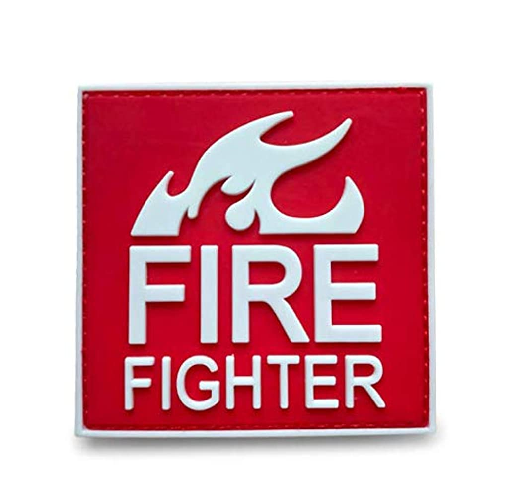 Morton Home 3D PVC FIRE Tactical Morale Rubber Patch (White/red)