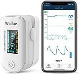Monitor de Saturación de Oxígeno Bluetooth para el dedo, Monitor de Saturación de Oxígeno en la Sangre para el Ritmo Cardíaco, Nivel de Sp02, Auricular de Viaje