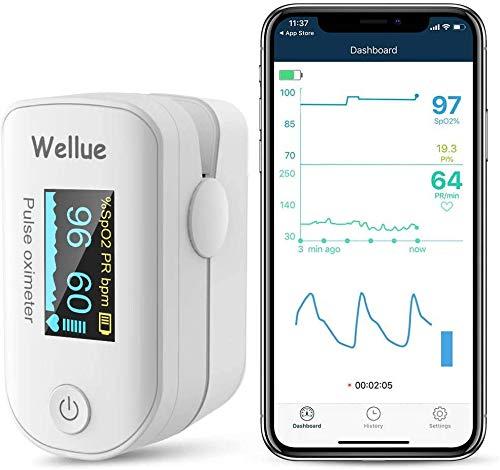 Monitor de Saturación de Oxígeno Bluetooth para el dedo, Monitor de Saturación de Oxígeno en la Sangre para el Ritmo Cardíaco, Nivel de Sp02, Auricular de Viaje 🔥