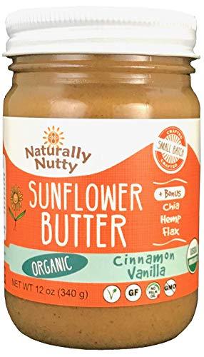 Naturally Nutty Organic Sunflower Butter 12 oz Jar (Cinnamon...