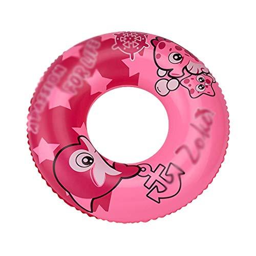 Gcxzb Schwimmreifen Bime aufblasbare Ring Schwimmen Ring Kinder Schwimmen Ring mädchen schwimmend Ring aufblasbare Float Boy bauernbuoy Lernen Schwimmen Erwachsener (Color : Pink, Size : 60)