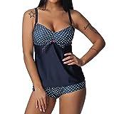 Ouneed- Bikini para Mujeres, Talla Extra Mujer Dot Tankini Traje de baño Traje de baño Ropa de Playa Acolchado Traje de baño S-5XL