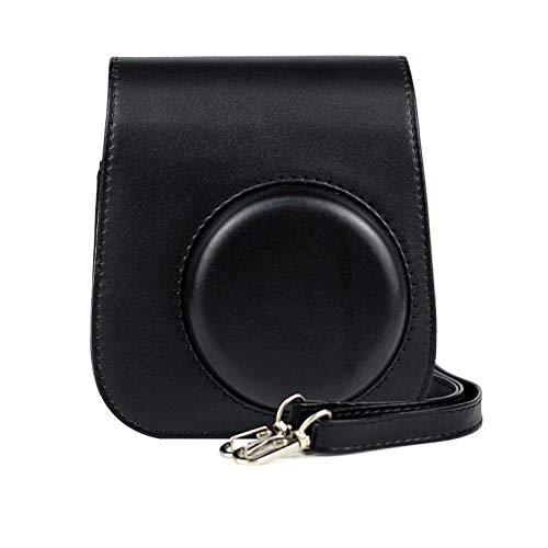 Xrten Kamera Schutzhulle mit Schulterriemen und Tasche fur Fujifilm Instax Mini 11 Sofortbildkameraschwarz