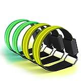Kelisidunaec 4 STK LED Armbänder Rechargeable, Jogger...
