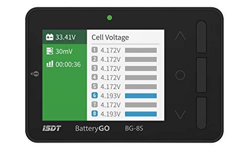 ISDT BattGo BG-8S Batterieanzeige Batterietester Akkutester Batterieprüfergerät für LiPo/Life/Li-ion/NiMH/Nicd