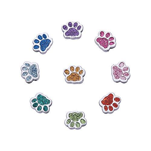 PandaHall 45 colgantes con forma de pata de gato y perro, con cuentas de cristal, para hacer joyas y...