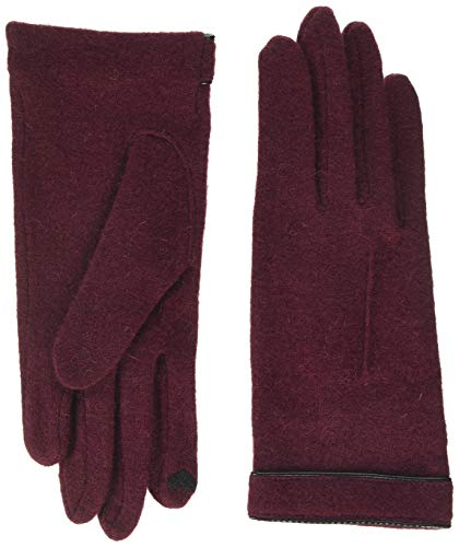 Roeckl Damen Cut & Sewn Leather Piping Handschuhe, Rot (Wine 488), 7.5