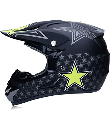 DLPAC Outdoor Sports Offroad Helmet, DOT Certified Motocross Gear Combo Mask Goggles Gloves, ATV Motorcycle Helmet SUV Dirt Bike Mountain Bike Helmet for Boys and Girls