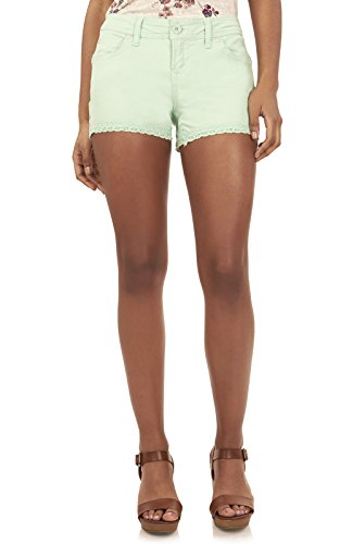 WallFlower Juniors Twill Short with Crochet Trim in Tea Green Size:5