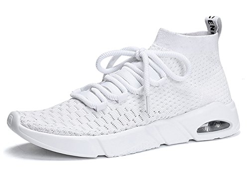SKDOIUL Youth Boys Shoes Size 7 mesh Breathable Comfort Men All White Sneakers Fashion Sport Athletic Running Walking Shoes Man Runner Jogging Shoes Casual Tennis Trainers