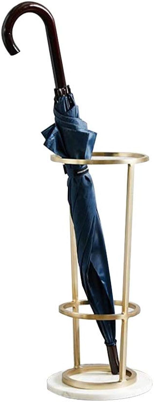 MYQ Umbrella Stand, Marble Floor Storage Bin Storage Umbrella Stand Suitable for Hotel Lobby Home Wrought Iron Umbrella 2 colors Hallway Umbrella Stand (color   gold)