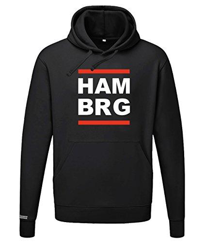 Jayess HAM BRG - HAMBURG - HERREN UND DAMEN - HOODIE in Schwarz by Gr. S