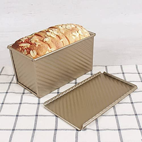 Loaf Pan with Lid, Carbon Steel Baking Bread Pan,Rectangle Nonstick Bread Toast Mold for Sandwich Cakes Hamburgers