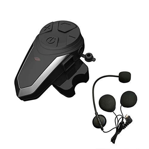 Casco De Motocicleta Intercom Auriculares Bluetooth Auriculares BTS3 Motorbike Sistema De Comunicación FM Radio 3 Jinetes Walkietalkie JBLYEJ (Color : 1pc for Half Face)