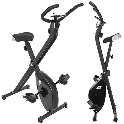 MT MALATEC Fahrradttrainer Klappbarer Heimtrainer Fitnessfahrrad mit Trainingscomputer Körpergewicht bis 100 kg Schwarz 9643