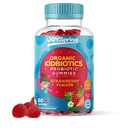 Kids Probiotic Gummies - Daily Chewable Probiotics for Children - Great for Digestion & Immune Support Kids - GMO Free Certified Ingredients - Delicious Strawberry Flavored Kids Probiotic (Gummy)