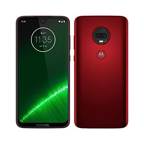 Moto G7 Plus, 4G LTE, 64GB/4GB RAM, Pantalla 6.2″ Full HD, Android Pie, Desbloqueado de fábrica (Rojo…