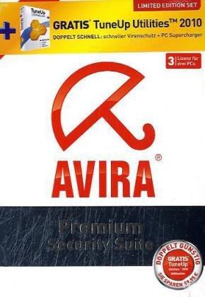 Avira Premium Security Suite 2011 + TuneUP Utilities 2010, 3-Platz-Lizenz, CD-ROMLimited Edition Set. Für Windows XP SP2 (32 oder 64 Bit), Vista SP1 (32 Bit oder 64 Bit), Windows 7