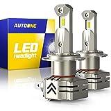 Best H7 Bulbs - AUTOONE H7 LED Headlight Bulbs, 6000K White 12000LM Review