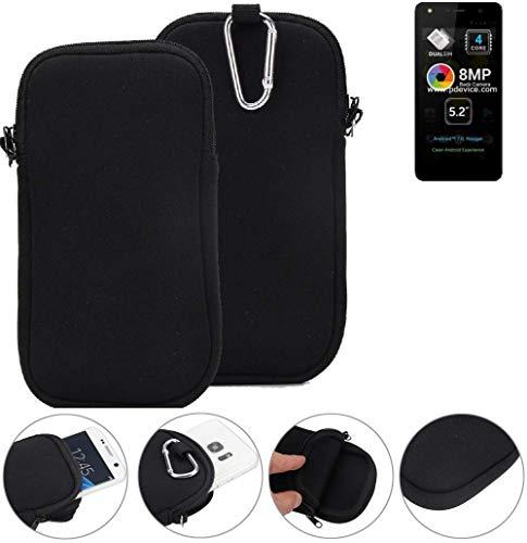 K-S-Trade® Neopren Hülle Für Allview A9 Lite Schutzhülle Neoprenhülle Sleeve Handyhülle Schutz Hülle Handy Gürtel Tasche Case Handytasche Schwarz