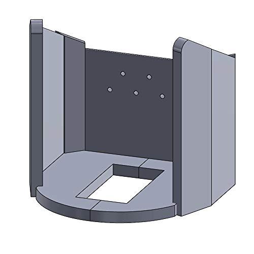 Flamado Feuerraumauskleidung Komplettset 9-teilig passend für Aduro Kamin Ersatzteile Kaminofen Brennraumauskleidung Vermiculite 1.150°C