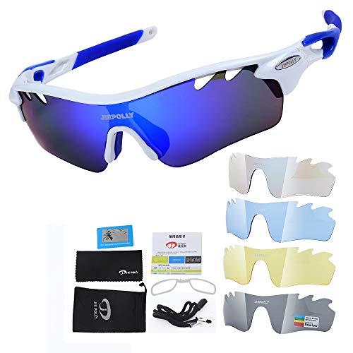 Gafas deportivas Gafas de sol polarizadas Gafas de ciclismo UV400 3 lentes intercambiables Lentes polarizadas para actividades al aire libre como ciclismo, escalada, conducción, carrera, golf, unisex