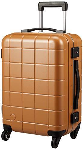 [プロテカ] スーツケース 日本製 機内持ち込み可 ストッパー付 サイレントキャスター チェッカーフレーム 保証付 35L 3.5kg 48 cm アンバー