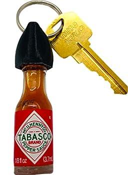 Tabasco Hot Sauce Keychain  Real Mini Bottle of Tabasco