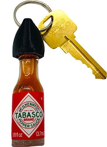 Tabasco Hot Sauce Keychain (Real Mini Bottle of Tabasco)