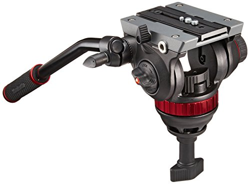 Manfrotto MVH502A Pro Fluid Video Neiger mit 75 mm Halbkugel und 504PL