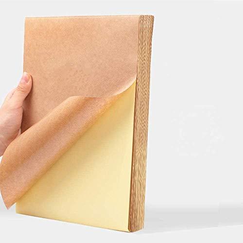 50 Bögen A4 selbstklebendes Kraftpapie A4 Kraft Braune Aufkleber Etiketten Papier Geeignet für Laser, Tintenstrahldruck, Kopiererdruck,80g Kraftpapier mat