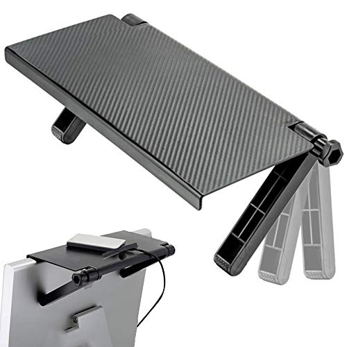 Pantalla Estante Superior CHEPL Pantalla de TV Estante Ajustable Estante de Pantalla Plegable para Enrutadores Cajas de Cable Consolas de Juegos Reproductor de DVD