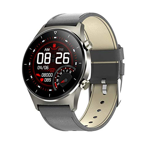 LDJ E13 Smart Watch Men's Bluetooth Bluetooth Impermeable Call Smartwatch Sports Muñequera Corazón Rate Toote Sleep Monitoring GPS Fitness Tracker para iOS Android,H