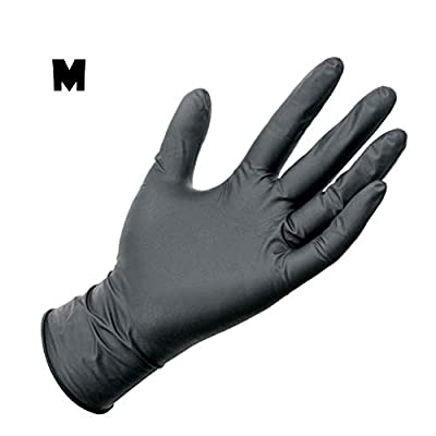 Disposable Rubber Gloves 100 pcs Nitrile Gloves Raven Black Comfortable Protective Convenient Comfortable Mechanic Tatoo Latex Gloves PVC Gloves Powder Free Gloves Exam Gloves