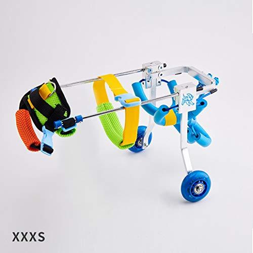 Huisdier Rolstoel, Handicapped Huisdier Hond Kat Rolstoel Walk Assistant Vierwielige Training Wielen Lichtgewicht Hind Benen Loop Auto Praktijk Auto, XXXS