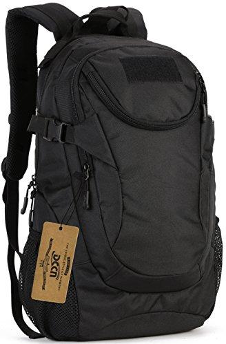 DCCN Taktischer Rucksack 25L MOLLE Schultasche Daypack Mini Trekkingrucksäcke mit Regenhülle 47 x 28 x 19 cm