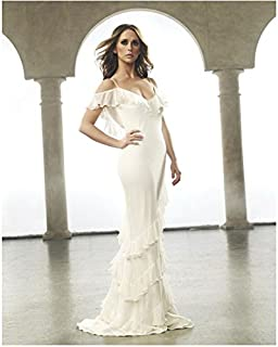 Jennifer Love Hewitt 8 x 10 Photo Ghost Whisperer Criminal Minds I Know What you Did Last Summer Looking Statuesque in White Off the Shoulder Dress Under Arch kn