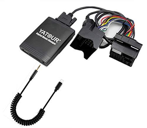 MB IP Adaptateur auxiliaire stéréo, Digital Interface d'entrée o de Voiture avec Carte SD, iPod MP3 , 3.5 mm Aux in, Lighnting Lecteur de Musique pour MB 1994–2006 Partie de modèle