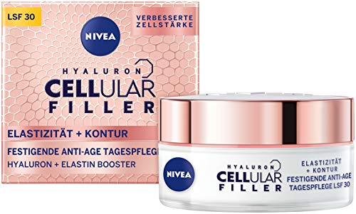NIVEA Hyaluron Cellular + Elastizität und Kontur Tagespflege, Anti Falten Tagescreme mit LSF 30, festigende Gesichtscreme für gestärkte & elastische Haut