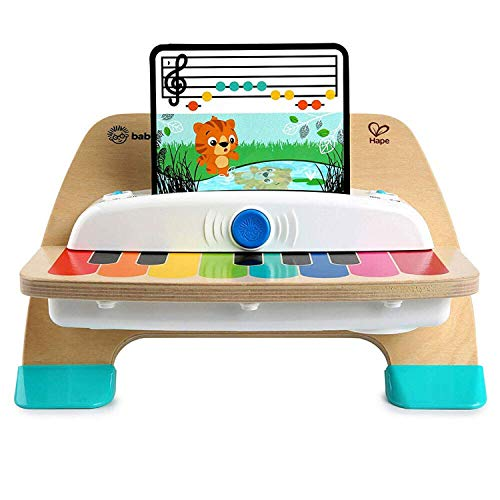 Baby Einstein, Hape Magic Touch Piano, juguete musical de madera, incluye 3 partituras y 6 canciones, a partir de 12 meses