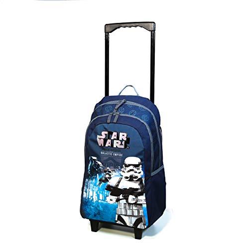 Bagtrotter - Mochila con ruedas, diseño de Star Wars, color azul