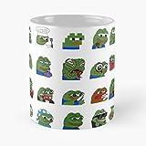 Generic Pepe Meme Pp Green Discord Frog Peepo Reddit Migliore Tazza da caffè Regalo 11 oz