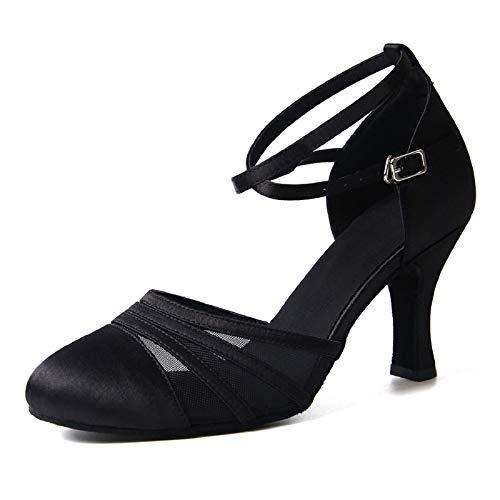 Syrads Zapatos de Baile Latino para Mujer Baile de Salón Tacón Alto Zapatos de Tango Salsa Samba Vals
