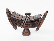 Thai Teak Wood Thai Traditional Musical Instruments Teakwood Teak Wood Wooden Xylophone 8 Bar Notes, inch Wood040