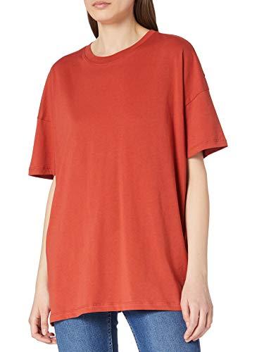 Only ONLAYA Life S/S Oversized Top JRS Noos Camiseta, Cinnabar, M para Mujer