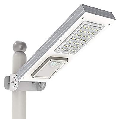 TENKOO Solar Street Lights Outdoor Lamp, 3-Mode Setting, Replaceable Lithium Battery, Adjustable Mounting Bracket, Solar Flood Lights Outdoor for Yard, Garden, Street, Basketball Court